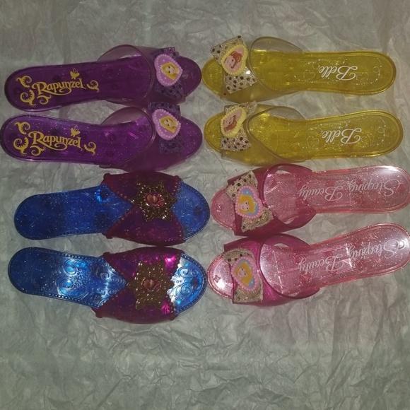 Kids Little Girl Princess Heels Lot Euc